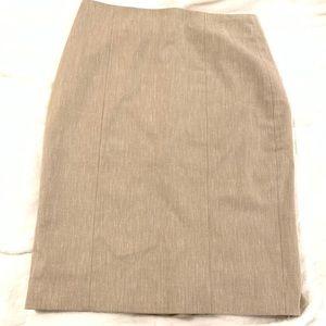 Ann Taylor Tan Pencil Skirt size 0